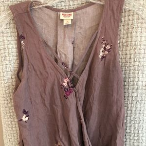 Mossimo purple flowery tank top